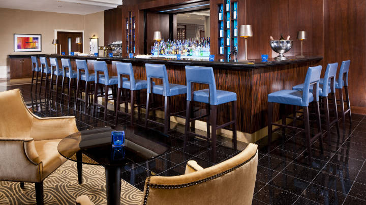 Philips lighting illuminated the bar of Mariott Hotel Prague