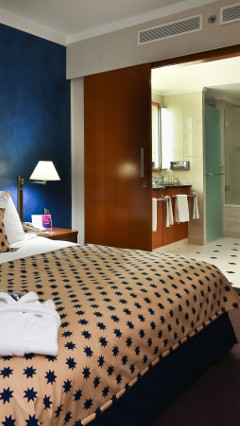 Philips hospitality lighting illuminates this Radisson Blu Centrum guestroom