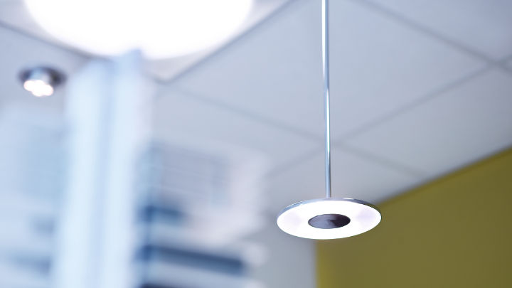 Philips' DaySign Solo hangs in the  Strijp-S Office, creating energy-efficient lighting solutions