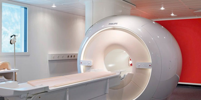Imaging room illuminated with Philips hospital lighting
